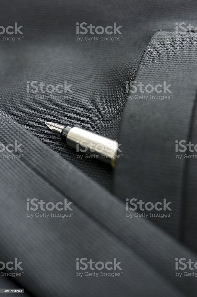 Detail of ink pen in pocket royalty-free stock photo