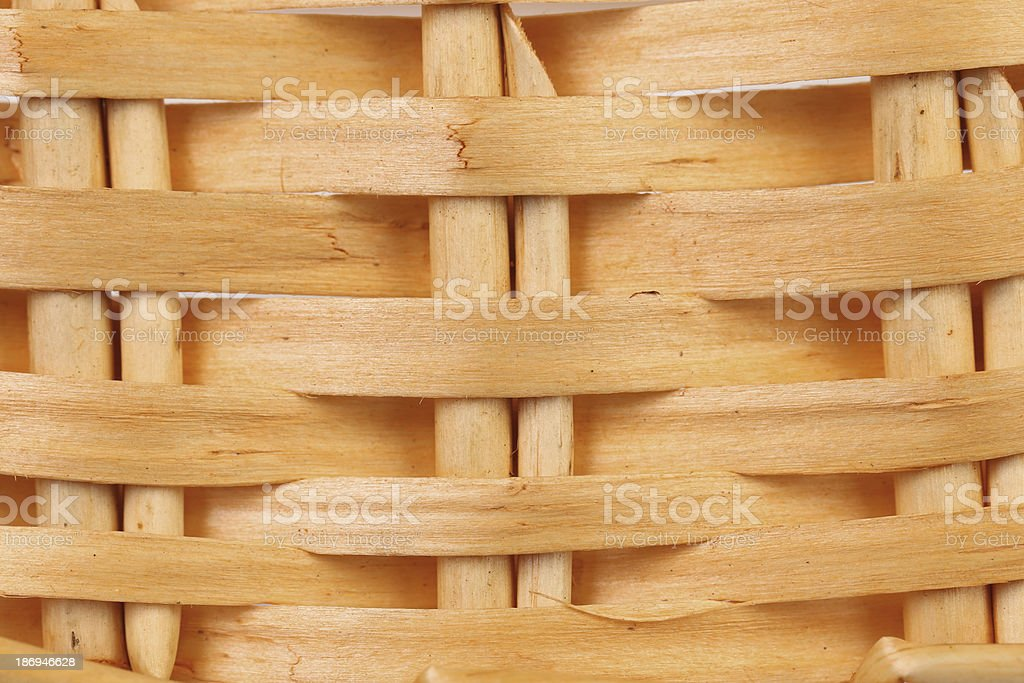 Detail of interlaced rattan fibers. royalty-free stock photo