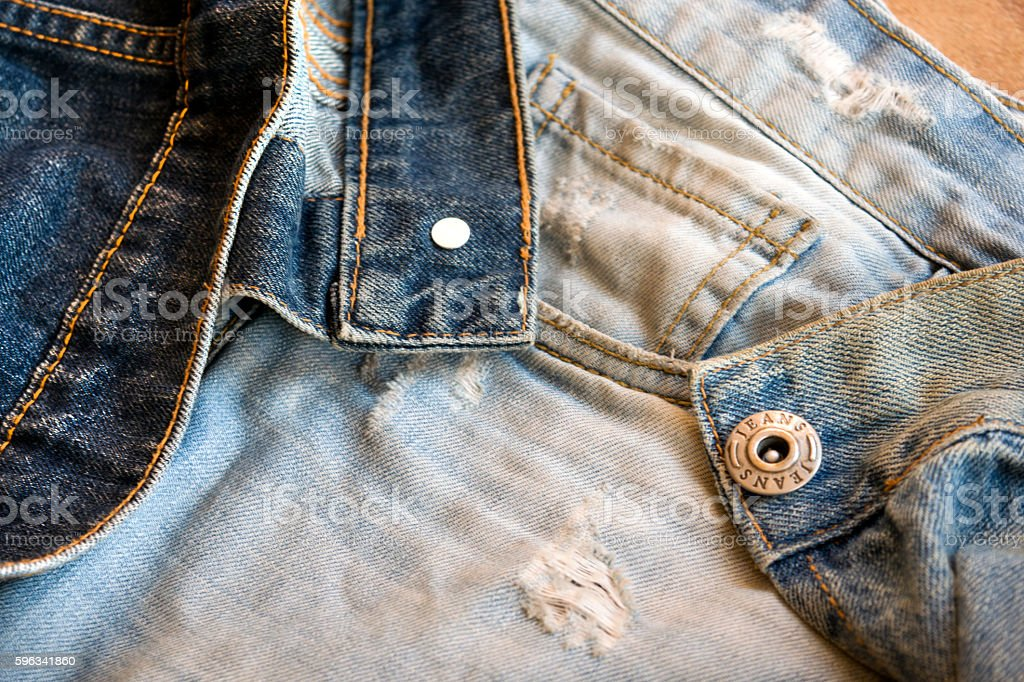 detail of jeans clothing with metal buttons Lizenzfreies stock-foto