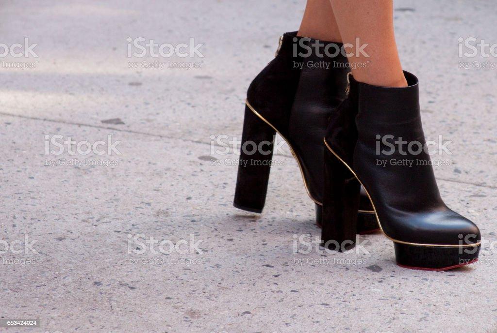 Détail de chaussures pour dames - Photo