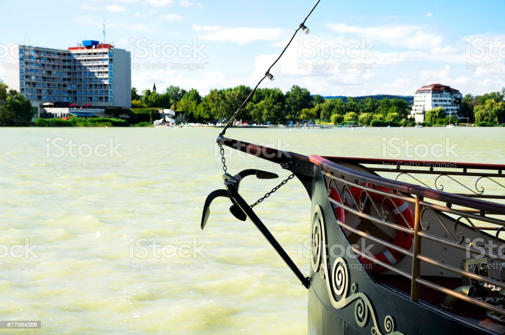 Detail of Lake Balaton at Keszthely, Hungary stock photo
