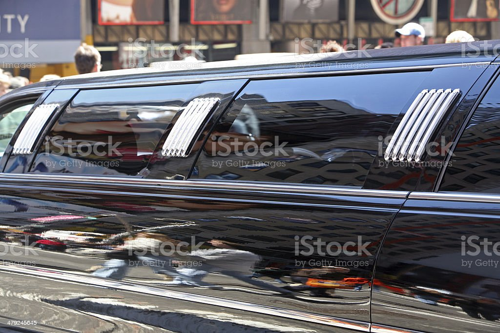 Detail of Limousine Windows royalty-free stock photo