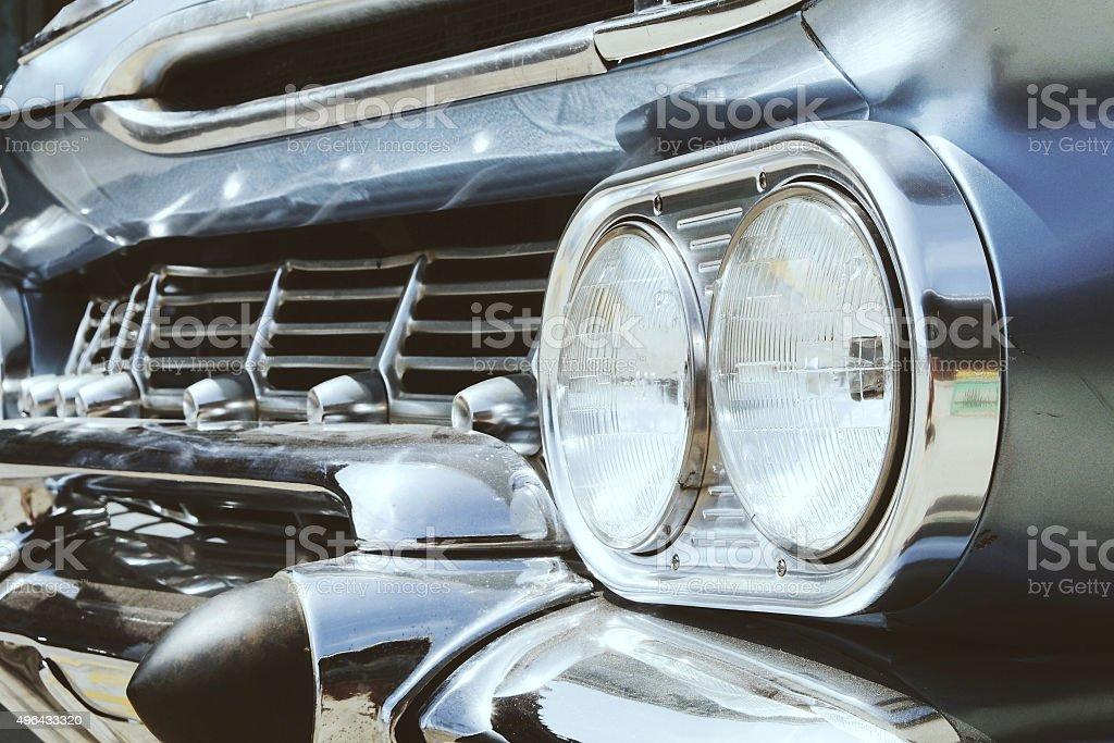 Detail of Luxury vintage car stock photo