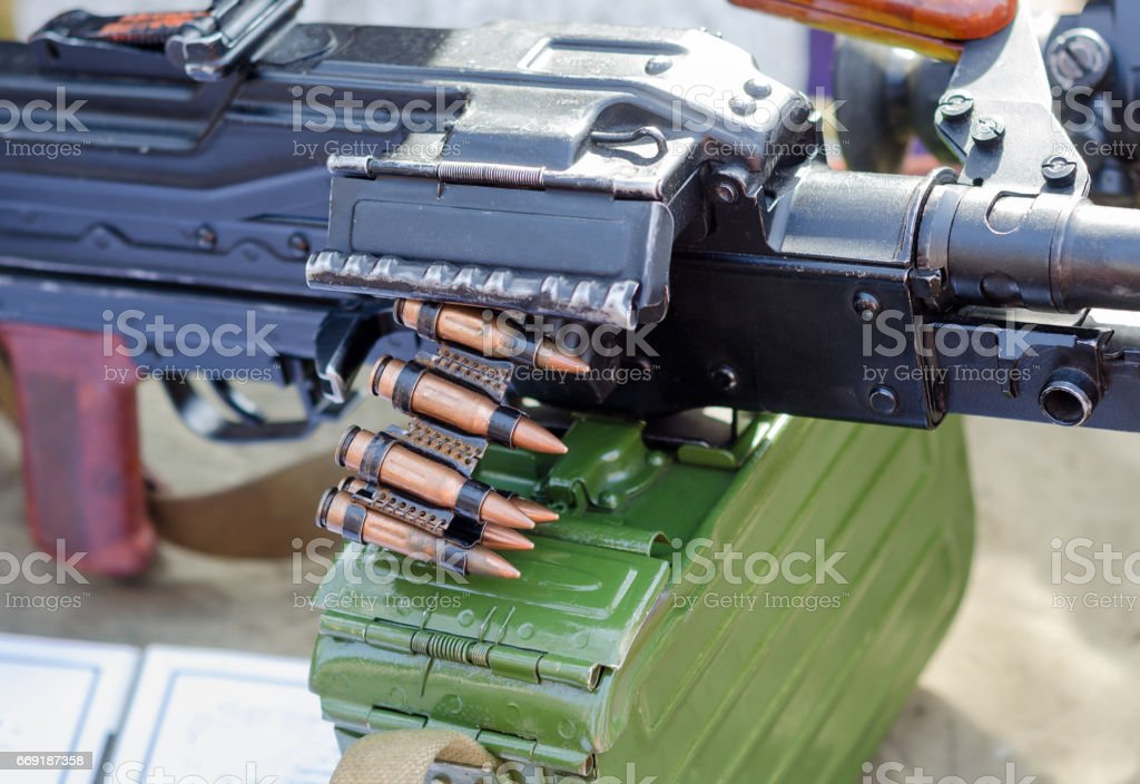 Detail of Machine Gun stock photo