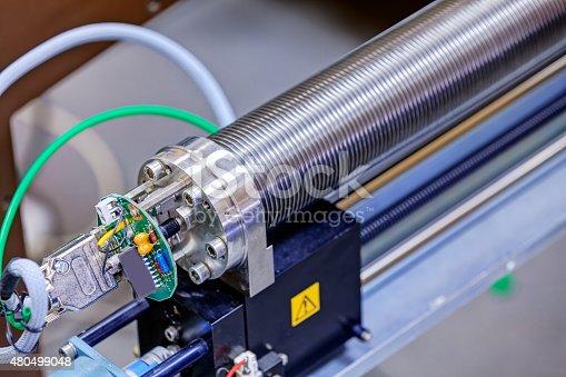 istock Detail of machinery in physics laboratory 480499048