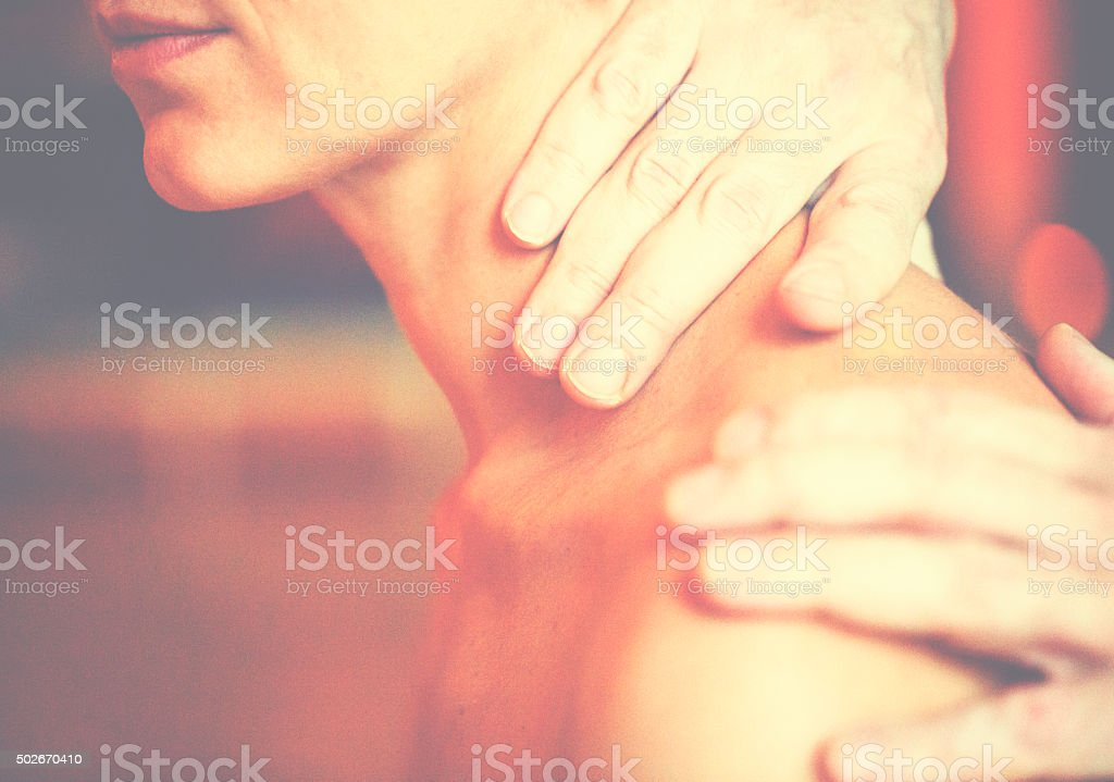 Detail of massage stock photo