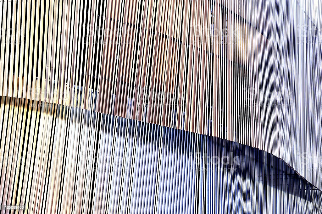 Detail of metal facade building stock photo