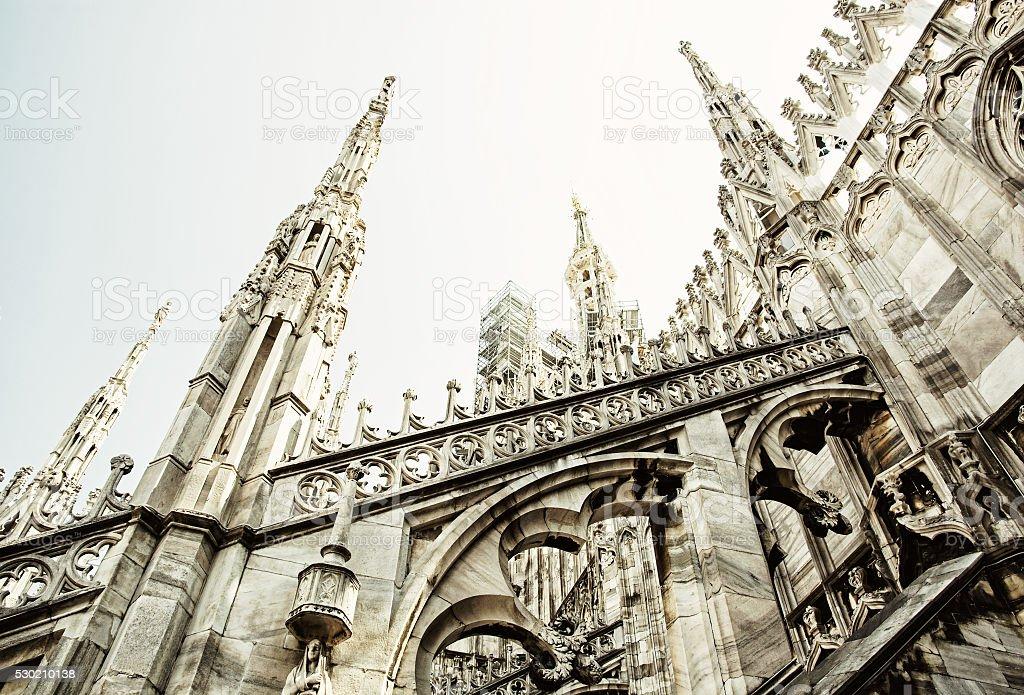 Detail of Milan cathedral - Duomo di Milano, Italy, religious stock photo