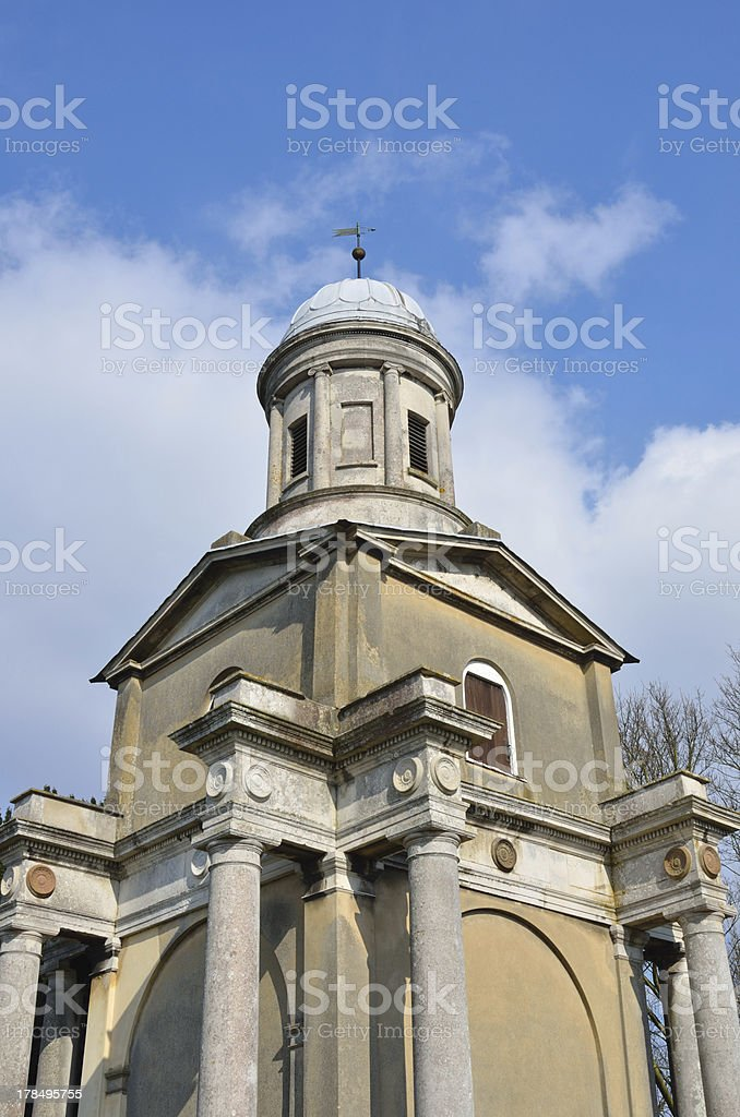 Detail of Mistley Church Tower stock photo