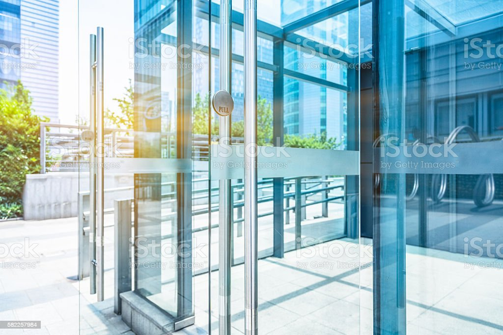 detail of modern building stock photo