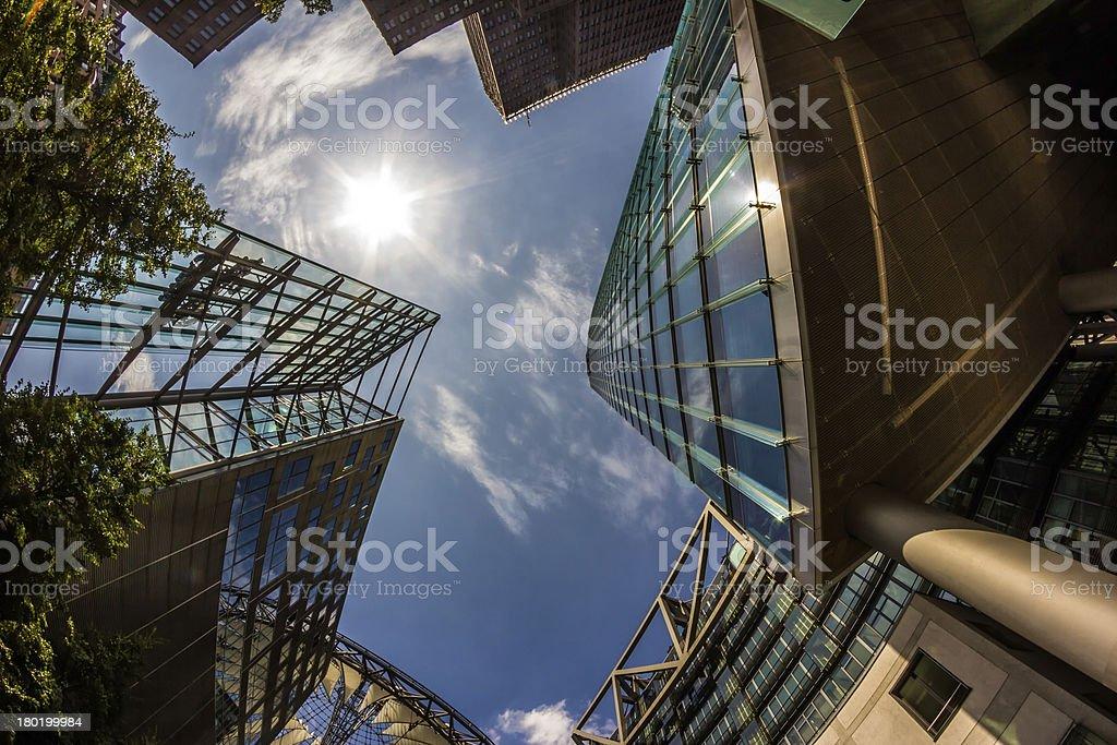 Detail of Modern Buildings In Berlin, Germany royalty-free stock photo