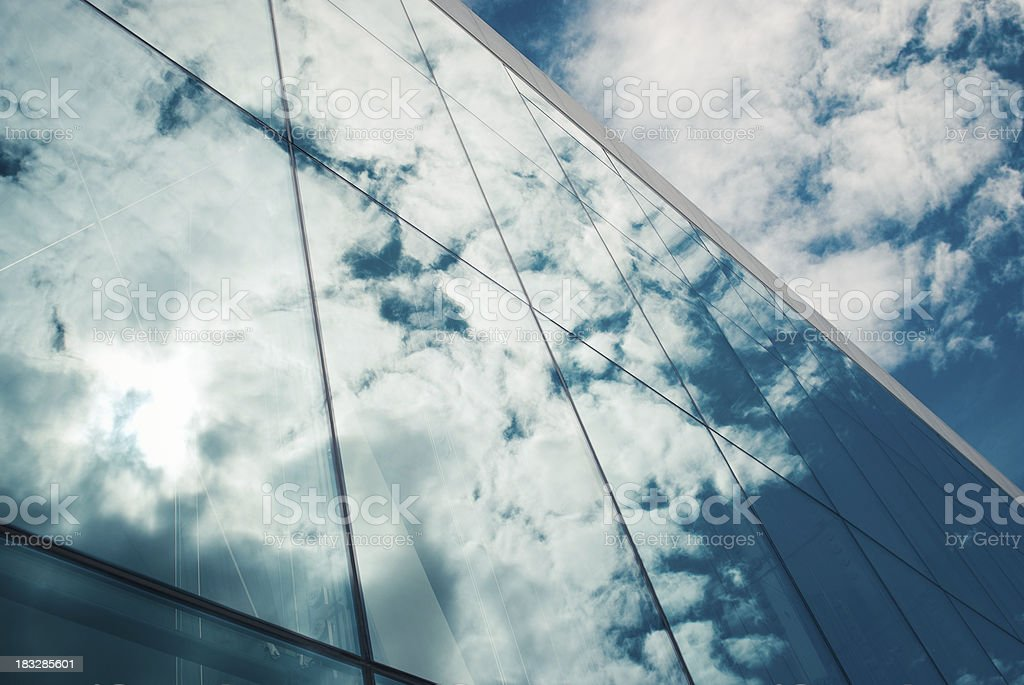 Detail of modern glass architecture - mirror view royalty-free stock photo
