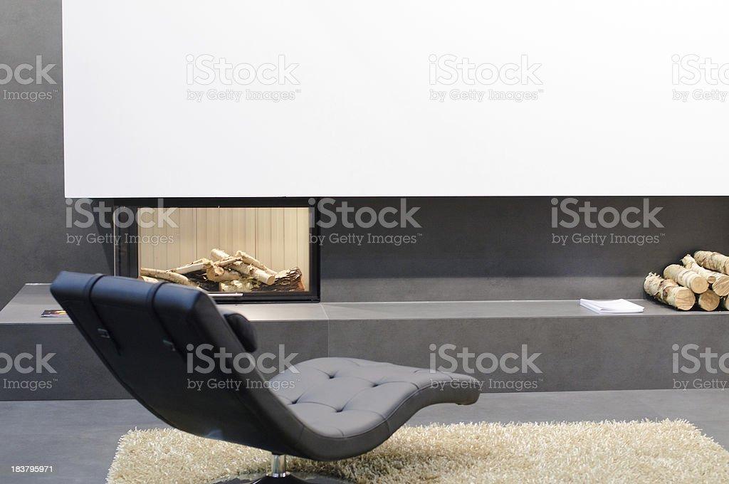 Detail of modern living room stock photo