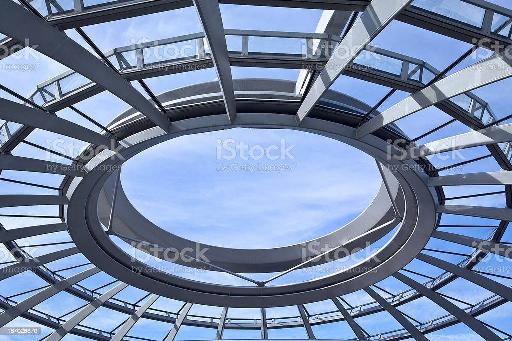 Detail of modern roof, Berlin, Gemany stock photo