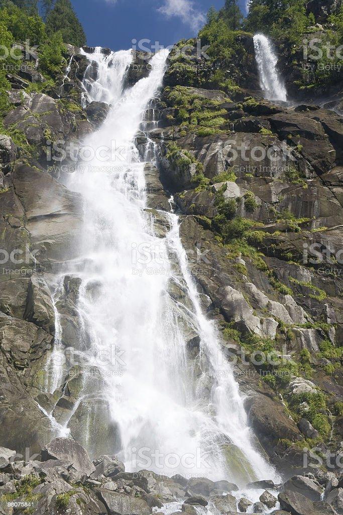 detail of Nardis waterfalls, val di Genova royalty-free stock photo