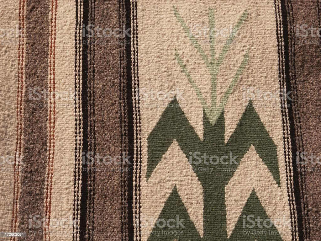 Detail of Native Woven Blanket royalty-free stock photo