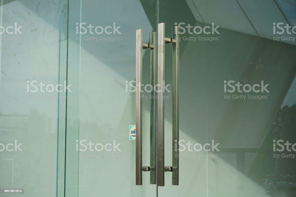 Detail des Bürogebäudes Eingang – Foto
