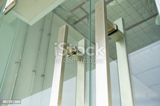 istock Detail of office building entrance 862381666