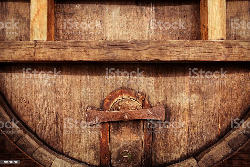 Detail Of Old Big Wooden Beer Barrel Stock Photo More Pictures Of