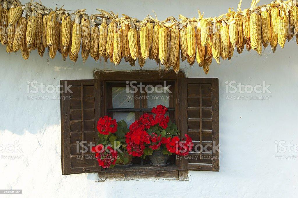 Detalle de la antigua eslovena farm foto de stock libre de derechos