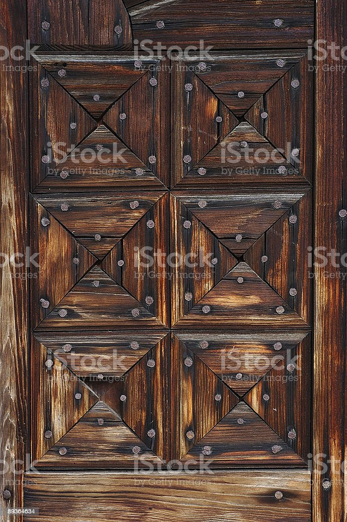 Detail of old wooden door royalty-free stock photo