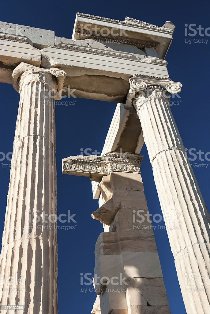 Detail of Parthenon temple Acropolis royalty-free stock photo