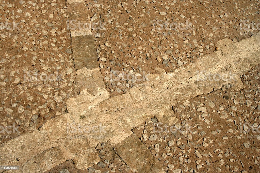 Detail of paved road royalty-free stock photo