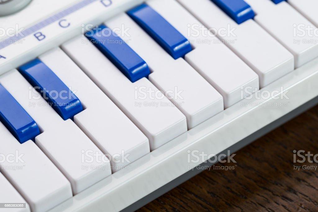 detail of piano keys stock photo