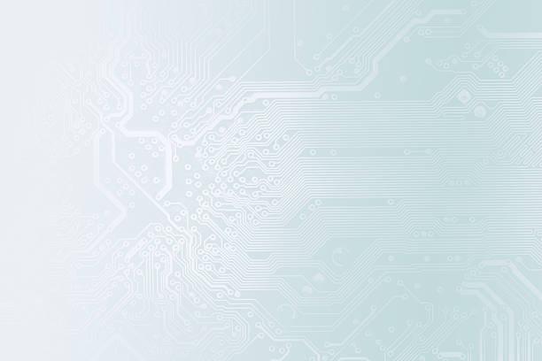 Detail of printed circuit board stock photo