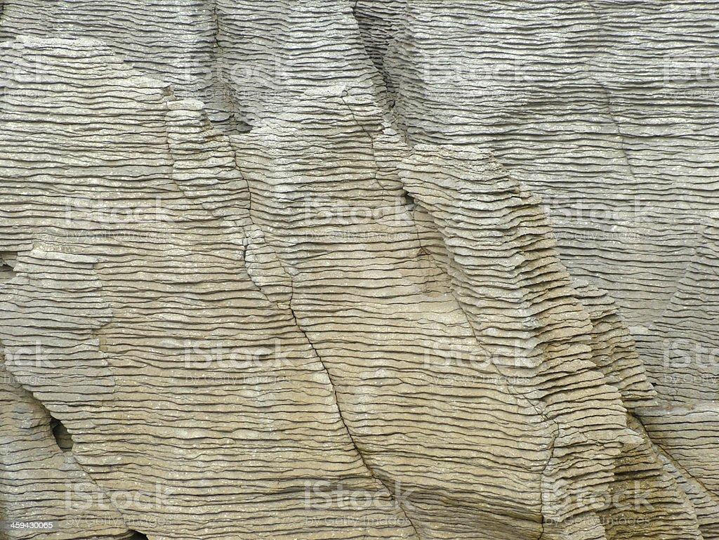 Detail of Punakaiki rocks stock photo