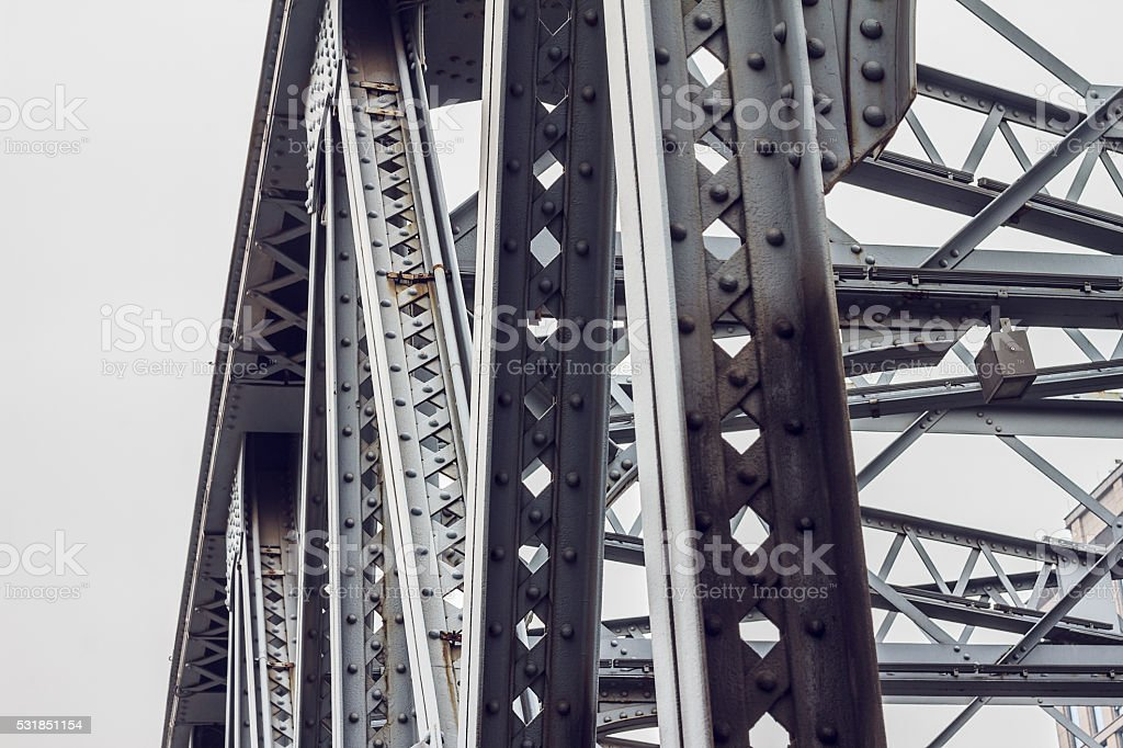 Detail of railway bridge stock photo