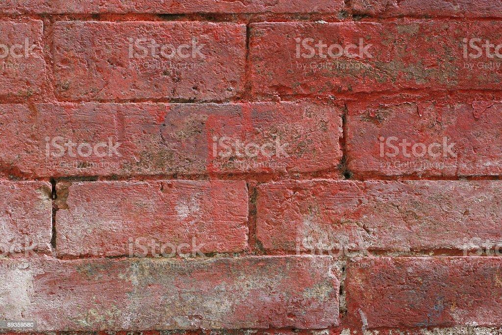 Dettaglio del muro di mattoni rosso dipinto texture a Roma foto stock royalty-free