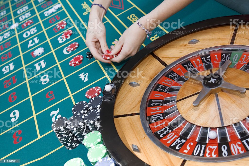 Detail of roulette table royalty-free stock photo