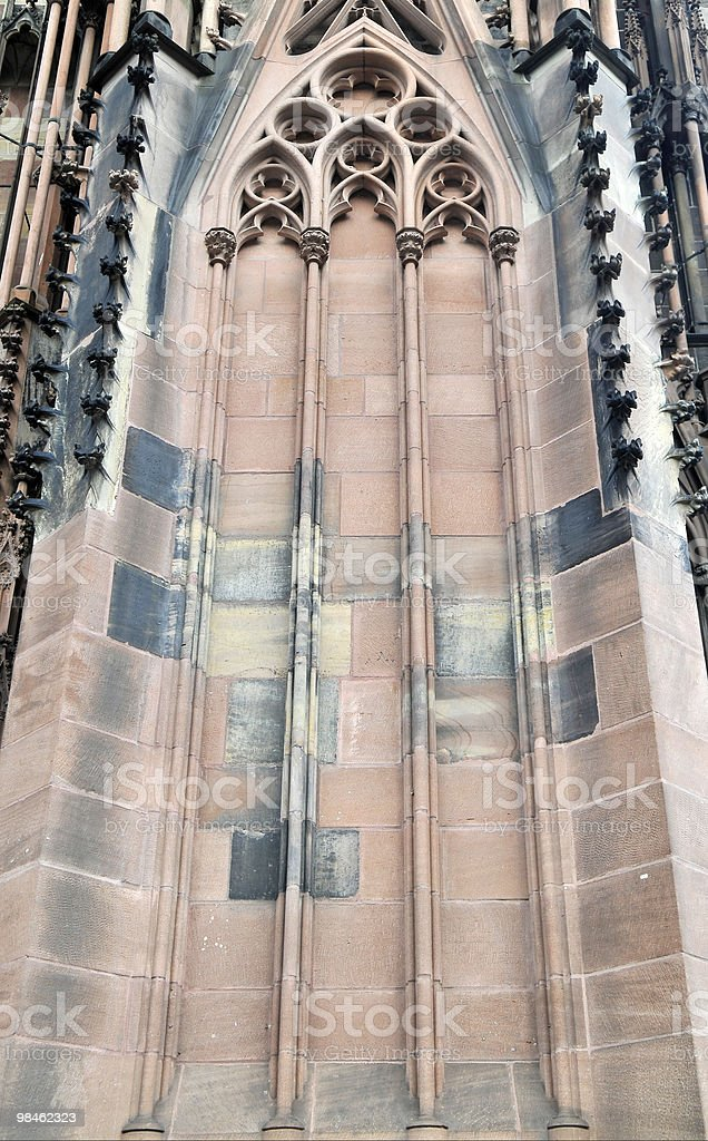Detail of Sandstone Cathedral Strasbourg royalty-free stock photo