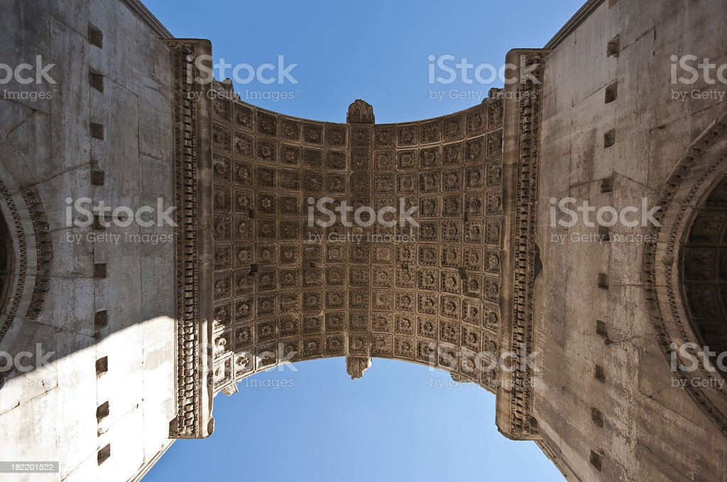 Detail of  Septimius Severus Arch royalty-free stock photo
