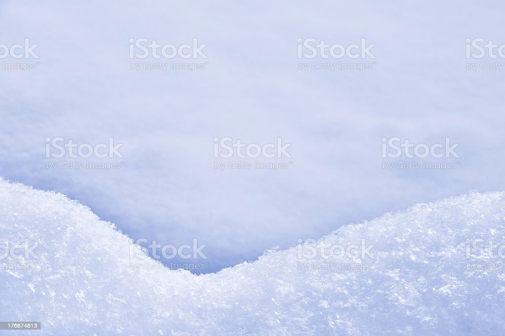 Detail of snowdrift - snow texture stock photo