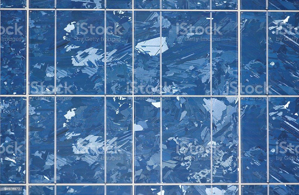 Detail of solar panel royalty-free stock photo