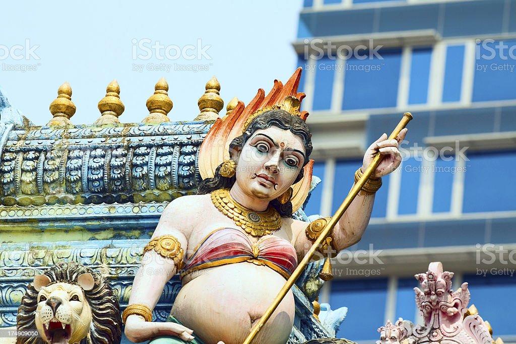 Detail of Sri Veerama Kaliammann Temple stock photo