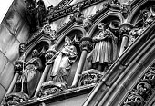 istock Detail of St Giles Cathedral in Monocrome 1310611058