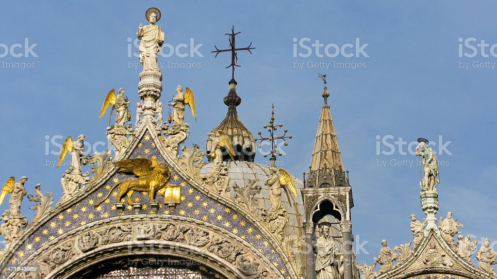 detail of st. mark basilica venice royalty-free stock photo