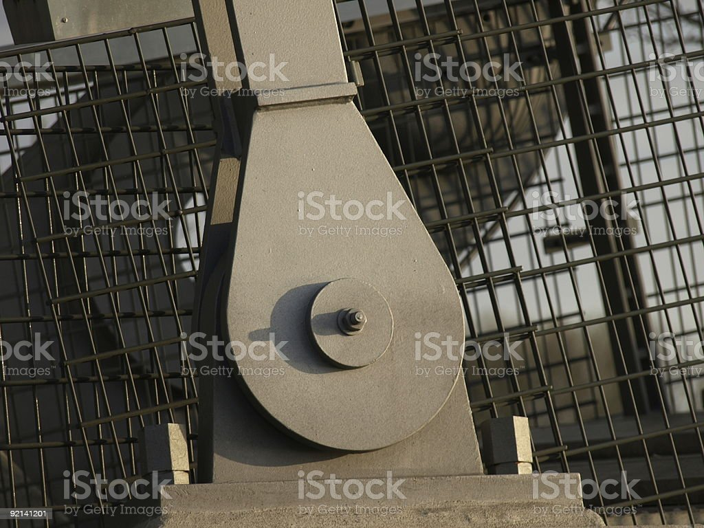 Detail of steel construktion royalty-free stock photo