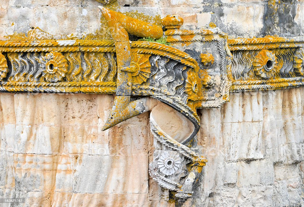 Detail of stone belt in Convento de Cristo,Tomar,Portugal royalty-free stock photo