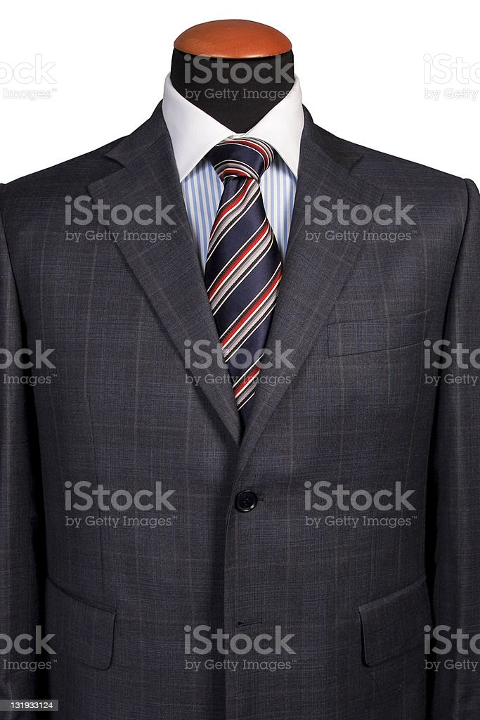 Detail of suit and a tie royalty-free stock photo