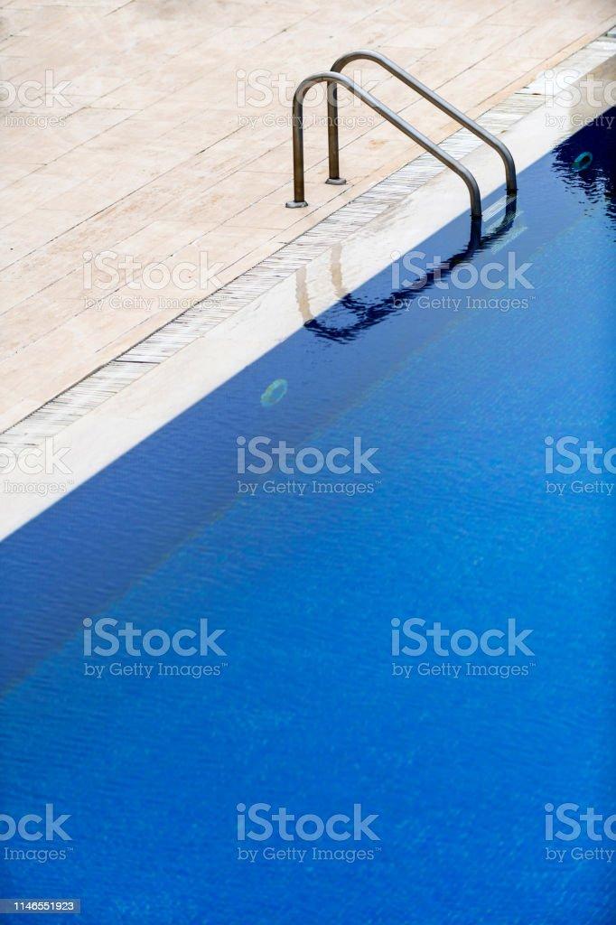 Detail of Swimming Pool in Garden.
