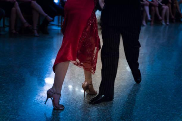 Detail of tango shoes stock photo