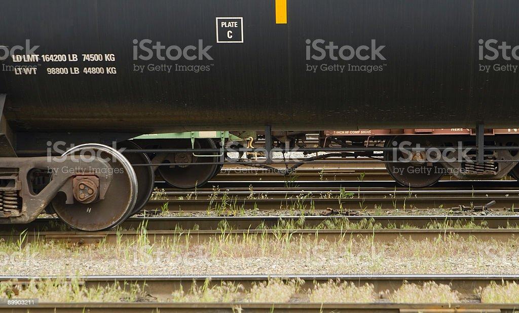 Detalle del tanque automóvil en tren foto de stock libre de derechos