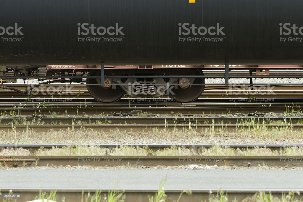 Detail of Tank Car on train royalty-free stock photo