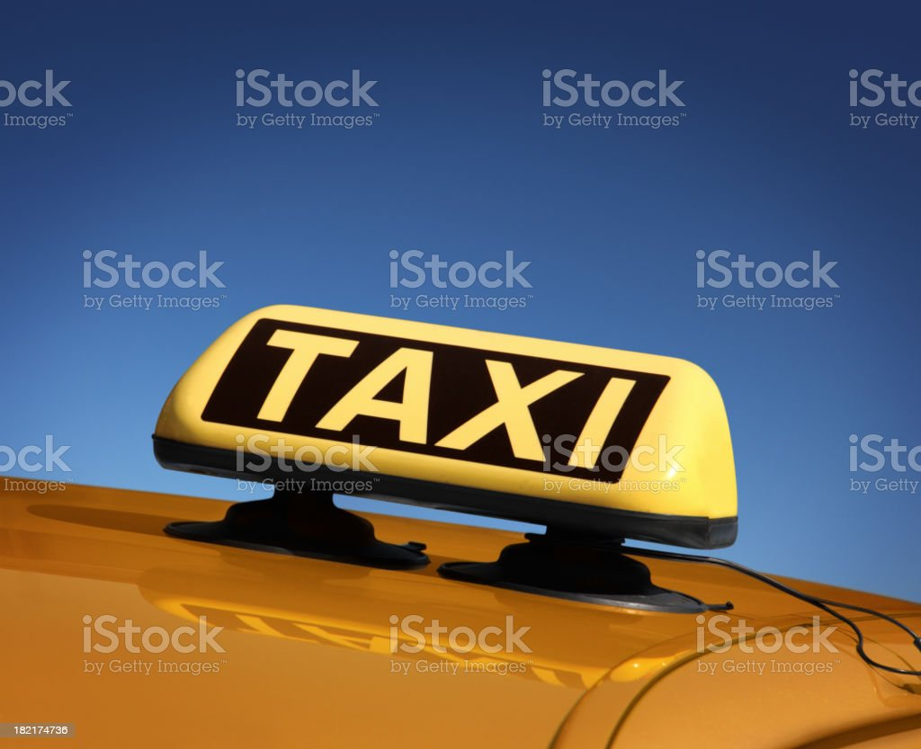 Detail of Taxi Car royalty-free stock photo