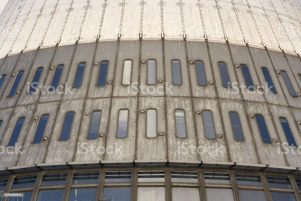 Detail of telecommunication transmitters tower on Jested, Liberec, Czech Republic stock photo