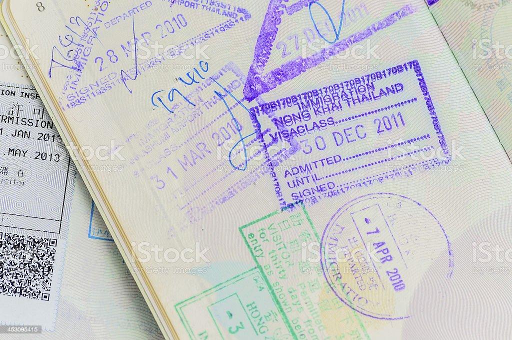 Detail of Thai Passport royalty-free stock photo